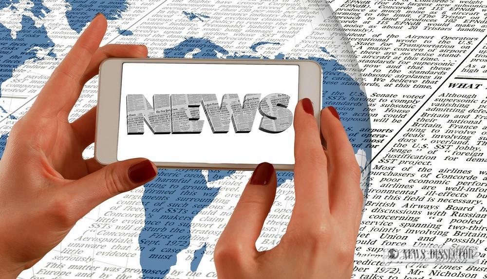 Abstract representation of world news