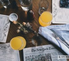 The New York Times newspaper on a table