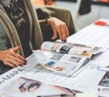Woman browsing through a magazine